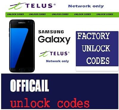 TELUS AND KADOO Unlock Code for Samsung Galaxy S5 S4 S3 S2 S1 Prime Express