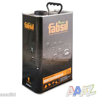Fabsil UV Waterproofer Waterproofing Sealant Awning Tent Canvas 5 Litre Grangers