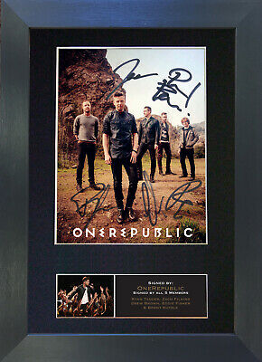 ONE REPUBLIC Signed Mounted Autograph Photo Prints A4 537