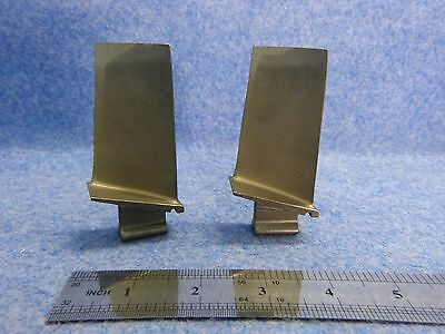 Lot of 2 Scrap Titanium Turbine Engine Blades only for collectors/art