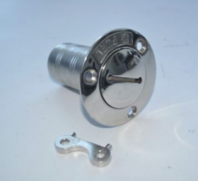 Marine Grade Stainless Steel Gas Boat Deck Filler 1 1/2 Inch Od With Keys