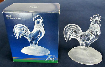 cristal d 39 arques 24 lead crystal glass rooster chicken j g durand france in box cad. Black Bedroom Furniture Sets. Home Design Ideas