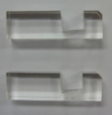 """Stands/Holders for 1/2"""" Lucite Display Card Holder Acrylic Slab 5 Pair/2 10 Pcs"""