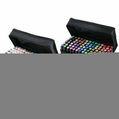 UK 80 Colors Touch Graphic Sketch Twin Tip Marker Pen Five Art Broad Fine Point