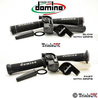 Domino Trials Throttle Including High Quality Grips-Available in Fast or Slow