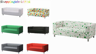 IKEA KLIPPAN Cover / SlipCover Two-Seat Sofa in 7COLORS - 100% Cotton - NEW