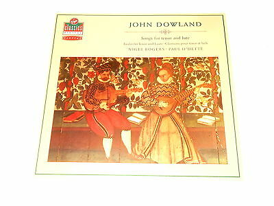 Nigel Rogers - Tenor - LP - DOWLAND - Songs For Tenor And Lute - O'Dette
