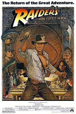 Raiders of the Lost Ark 8X10 11x17 16x20 24x36 27x40 Vintage Movie Poster Ford A