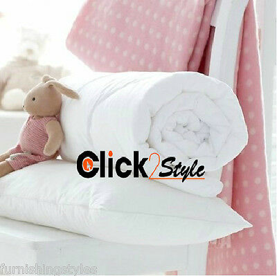 Anti Allergy Cot Bed Duvet Quilt Pillow Nursery Baby Toddler Junior