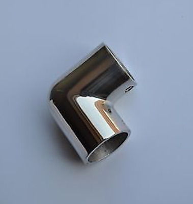 """Boat Hand Rail Fitting 90 Degree- 1"""" Elbow -316 Marine Stainless Steel"""