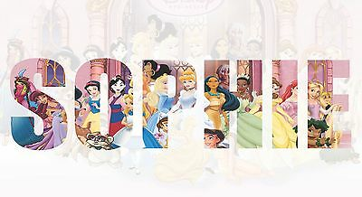 Personalised Disney Princess Sticker Name Wall decal stickers 3 SIZES Wall Art