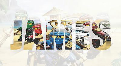 Personalised NINJAGO  Sticker Name Wall decal Kids stickers 3 SIZES Wall Art