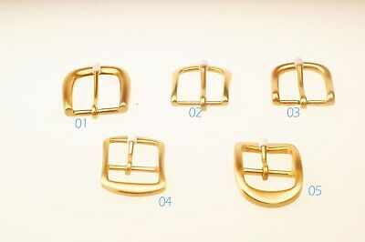 Solid Brass Pin Buckle for Men Women Leather Belt Replacement Snap On 35mm gold