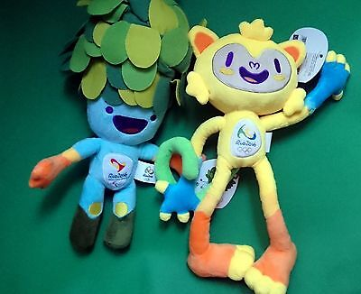 226956146386 2016 Official 30cm Brazil Rio Olympics Mascot Vinicius And Tom -2 toys  brand new