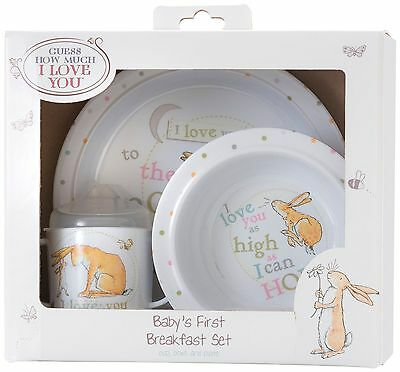 Guess how much I love you 3 piece breakfast set by Rainbow Designs