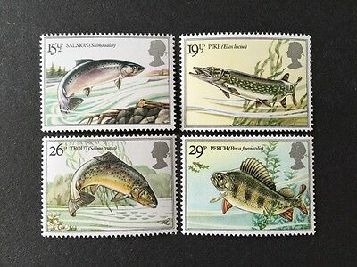 ASstamps Great Britain 1983 River Fishes Set MNH SC#1011-1014