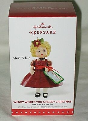 Hallmark Wendy Wishes You a Merry Christmas Madame Alexander 2015 Ornament