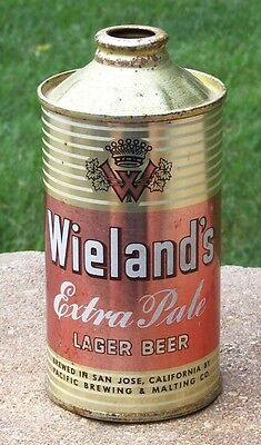 *Elusive* Weiland's Extra Pale Low Profile Cone Top Beer Can-USBC 189-13