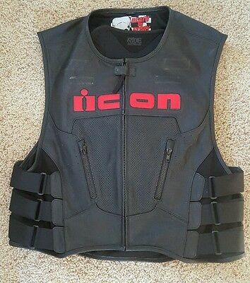ICON Death or Glory Leather Motorcycle Vest  - 2xl-3xl  MUST SEE!!