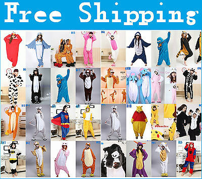 New Hot Unisex Adult Pajamas Kigurumi Cosplay Costume Animal Onesie Sleepwear