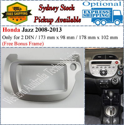 Fascia facia Honda Jazz 2008-2013 Double 2 Din For Stereo DVD GPS Radio