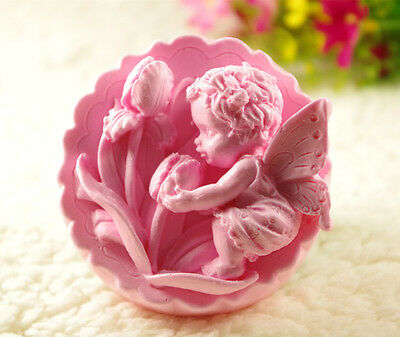 Flower  Baby Angel S452 Silicone Soap molds Craft  DIY Handmade soap Mold Mould