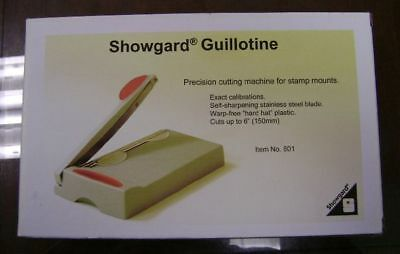 Showgard professional Stamp mount cutter NEW # 601 small size w/ holding bar
