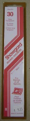 Showgard size 30 clear hingeless stamp mount NEW unopened pack 1st quality 215mm