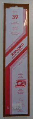 Showgard size 39 clear hingeless stamp mount NEW unopened pack 1st quality 215mm