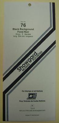 Showgard size 76 black hingeless stamp mount NEW unopened pack 1st quality