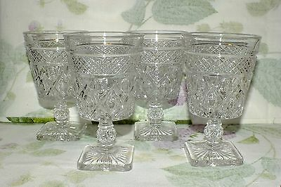 IMPERIAL GLASS CAPE COD low WATER GOBLETS SET OF 4   EXC