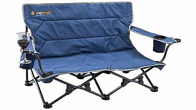 OZtrail Twin Arm Festival Chair with High-Tensile Steel Frame and Padded Seat