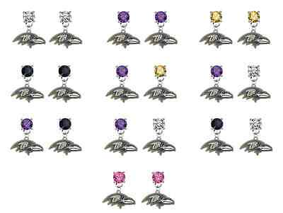 Baltimore Ravens Football Crystal Earrings Stud Post Dangle Mix Match Colors