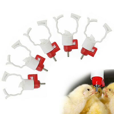 5Pcs Poultry Automatic Water Nipple Drinker Feeder for Chickens Geese Duck Hot