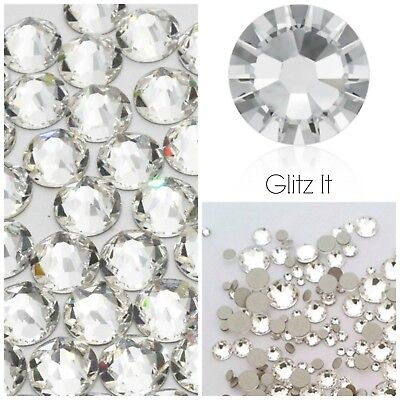 Swarovski Elements x100 ss20 CLEAR crystals diamantes rhinestones GLUE ON #2088