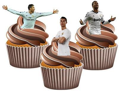 Ronaldo Mix Cake Toppers Wafer Card Novelty Decorations Real Madrid Football