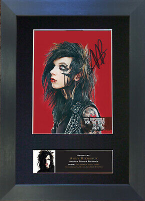 ANDY BIERSACK Signed Mounted Autograph Photo Prints A4 530