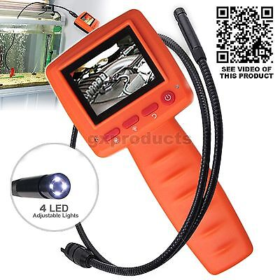 LCD 2.4 Video Inspection Borescope 1m Endoscope Pipe 10mm Camera mechanic tool