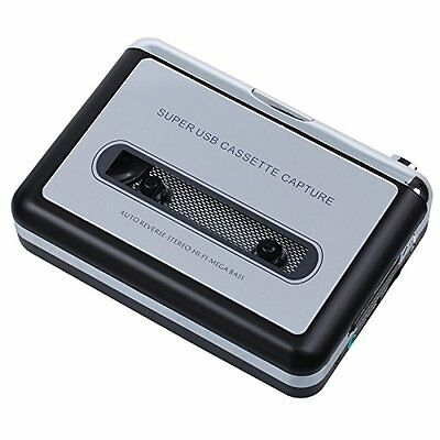 USB Audio Cassette Tape Converter to MP3 CD Player PC Silver