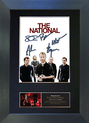 THE NATIONAL Signed Mounted Autograph Photo Prints A4 519
