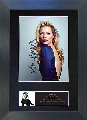 KATE MOSS Signed Mounted Autograph Photo Prints A4 517
