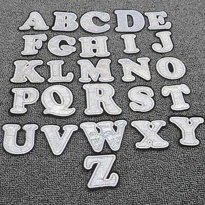 26  letters Embroidery Iron on patch sewn For clothing applique backpack  Motif