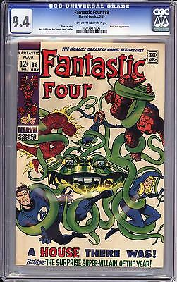 Fantastic Four #88 Cgc 9.4  Ow White Pages   The Mole Man