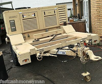 Military 20Kw Quiet 3-Phase Diesel Generator On Hmmwv Trailer 120/208 Vac 60Hz