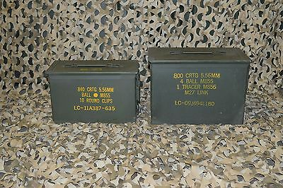 (2 PACK) FAT 50 CAL SAW BOX / 50 Cal  AMMO CAN VERY GOOD CONDITION FREE SHIPPING