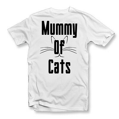 Mummy of Cats T-Shirt | Ladies Funny Cat Shirt | Meow | Kittens | Crazy Cat Lady