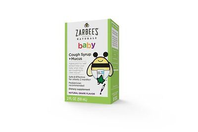 Zarbee's Natural Baby Cough syrup + MUCUS Grape Flavor 2 fl / 59ml