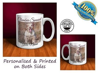 Clumber Spaniel Personalised Ceramic Mug: Perfect Gift. (D054)