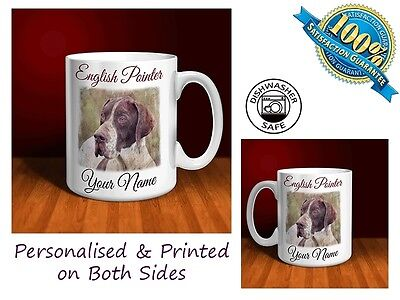 English Pointer Personalised Ceramic Mug: Perfect Gift.(D096)