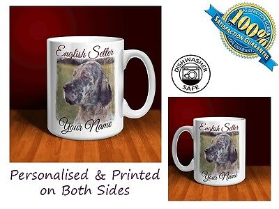 English Setter Personalised Ceramic Mug: Perfect Gift. (D076)